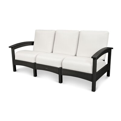 Rockport Club Sofa Color: Charcoal Black / Birds Eye
