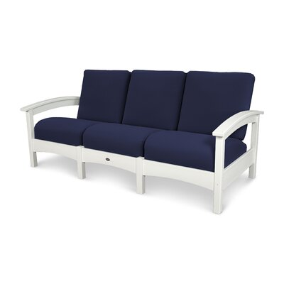 Rockport Club Sofa Color: Classic White / Navy