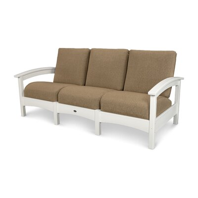 Rockport Club Sofa Color: Classic White / Sesame