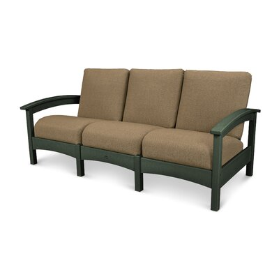 Rockport Club Sofa Color: Rainforest Canopy / Sesame