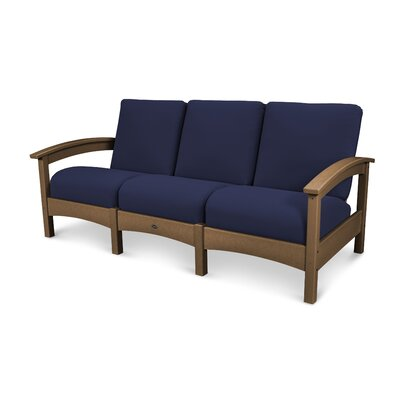 Rockport Club Sofa Color: Tree House / Navy