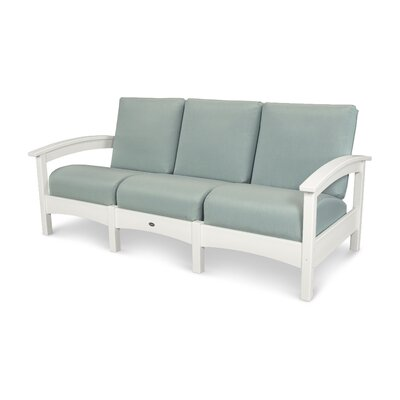 Rockport Club Sofa Color: Classic White / Spa