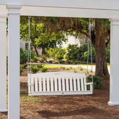 Yacht Club Porch Swing Color: Classic White