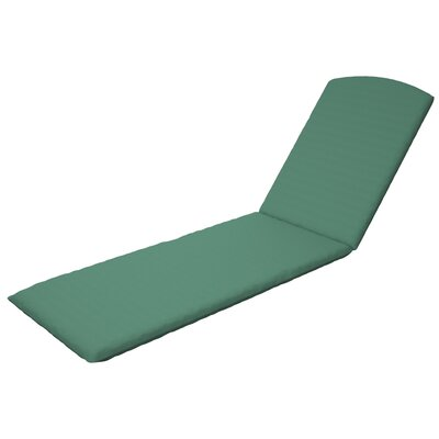 Trex Outdoor Chaise Cushion Sunbrella Color: Spa