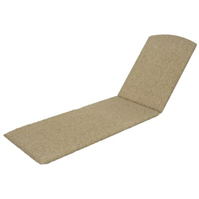 Trex Outdoor Chaise Cushion Sunbrella Color: Sesame