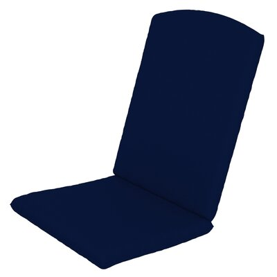 Solid Outdoor Sunbrella Rocking Chair Cushion Fabric: Navy