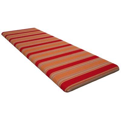 Seat Cushion Fabric: Bravada Salsa, Size: 48