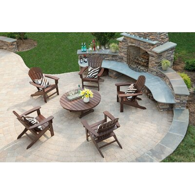 Cape Cod Folding 6 Piece Adirondack Seating Group Color: Tree House