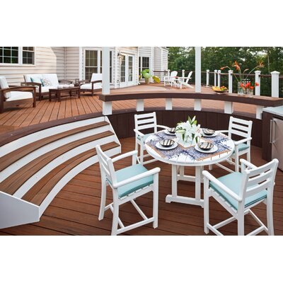 Monterey Bay 5 Piece Dining Set Color: Classic White