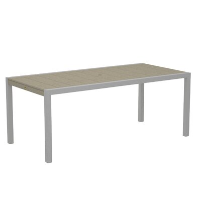 "Trex Outdoor Surf City Dining Table - Size: 36"" x 73"", Color: Textured Silver/Sand Castle at Sears.com"
