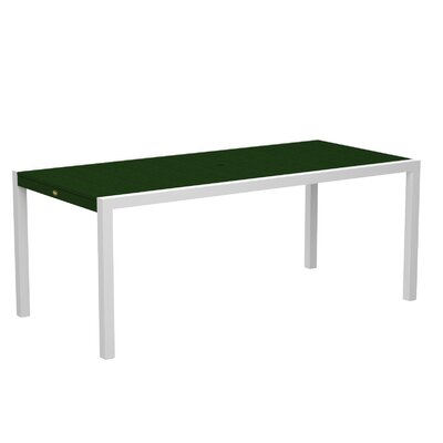 "Trex Outdoor Surf City Dining Table - Color: Textured White/Rainforest Canopy, Size: 36"" x 73"" at Sears.com"