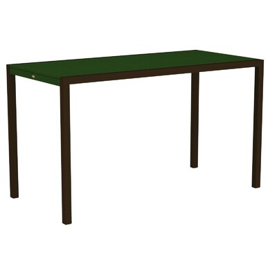 "Trex Outdoor Surf City Bar Height Dining Table - Size: 36"" x 73"", Color: Textured Bronze/Rainforest Canopy at Sears.com"