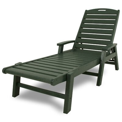Yacht Club Chaise Lounge with Arms Color: Rainforest Canopy