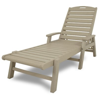 Yacht Club Chaise Lounge with Arms Color: Sand Castle