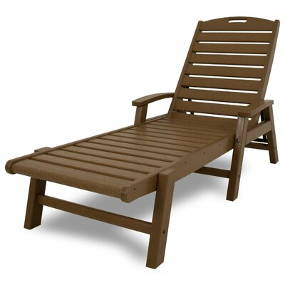 Yacht Club Chaise Lounge with Arms Color: Tree House