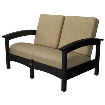 Rockport Club Deep Seating Sofa with Cushions Color: Charcoal Black / Sesame