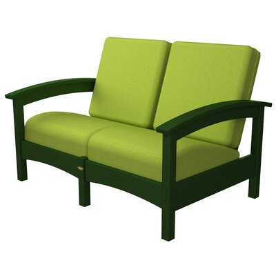 Rockport Club Deep Seating Sofa with Cushions Color: Rainforest Canopy / Macaw