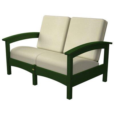 Rockport Club Deep Seating Sofa with Cushions Color: Rainforest Canopy / Birds Eye