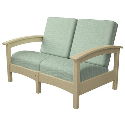 Rockport Club Deep Seating Sofa with Cushions Color: Sand Castle / Spa