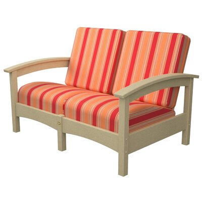 Rockport Club Deep Seating Sofa with Cushions Color: Sand Castle / Bravada Salsa
