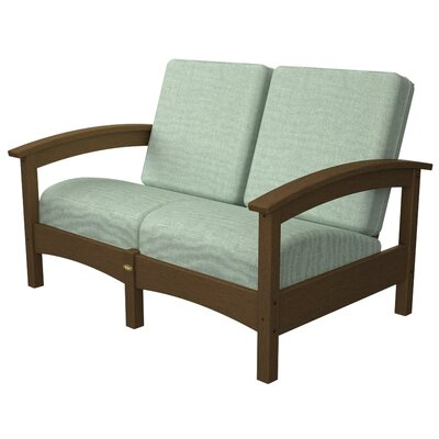 Rockport Club Deep Seating Sofa with Cushions Color: Tree House / Spa