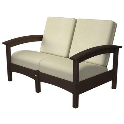 Rockport Club Deep Seating Sofa with Cushions Color: Vintage Lantern / Birds Eye
