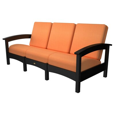 Rockport Club Sofa Color: Charcoal Black / Tangerine