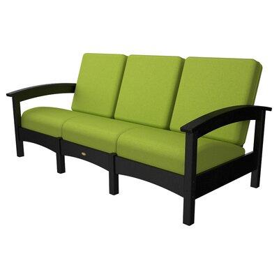 Rockport Club Sofa Color: Charcoal Black / Macaw