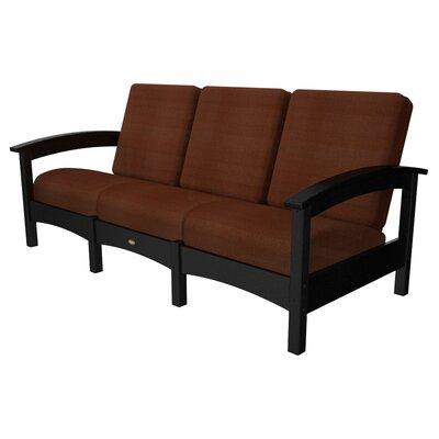 Rockport Club Sofa Color: Charcoal Black / Chili