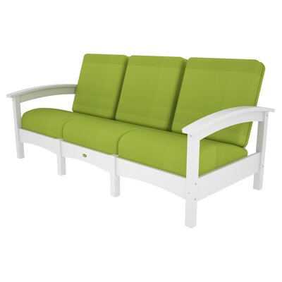 Rockport Club Sofa Color: Classic White / Macaw