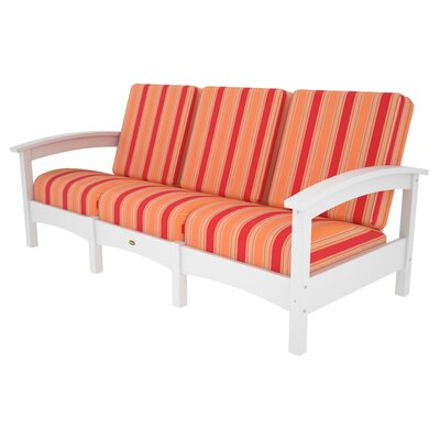 Rockport Club Sofa Color: Classic White / Bravada Salsa