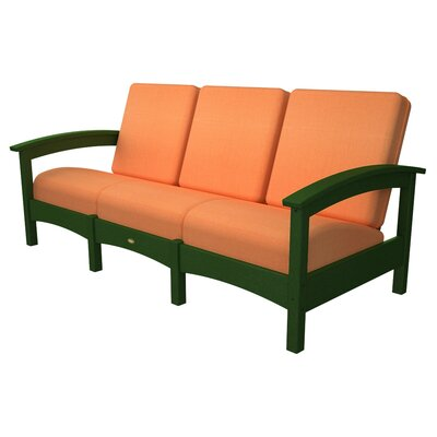 Rockport Club Sofa Color: Rainforest Canopy / Tangerine