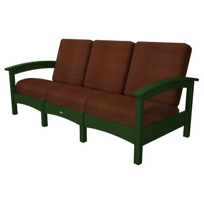 Rockport Club Sofa Color: Rainforest Canopy / Chili