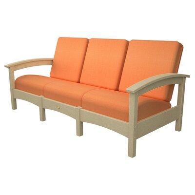 Rockport Club Sofa Color: Sand Castle / Tangerine