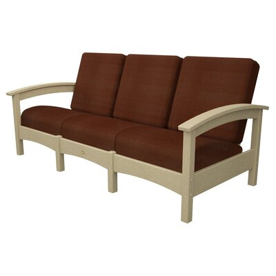 Rockport Club Sofa Color: Sand Castle / Chili
