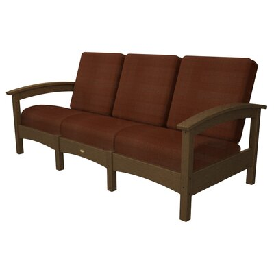 Rockport Club Sofa Color: Tree House / Chili