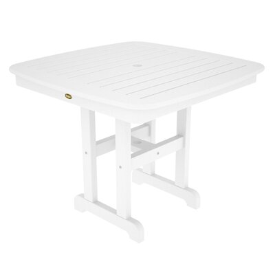 Yacht Club Dining Table Finish: Classic White, Table Size: 37