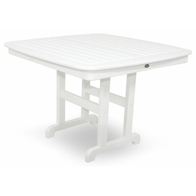 Yacht Club Dining Table Finish: Classic White, Table Size: 44