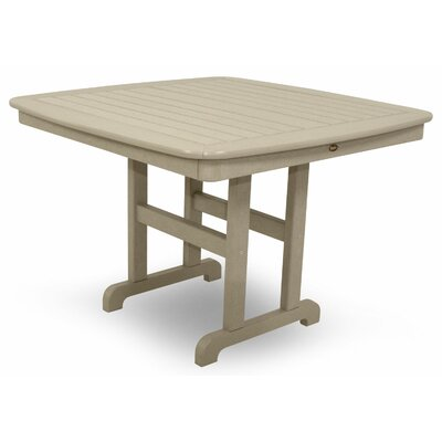 Yacht Club Dining Table Finish: Sand Castle, Table Size: 44