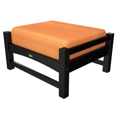 Rockport Club Ottoman Color: Charcoal Black / Tangerine