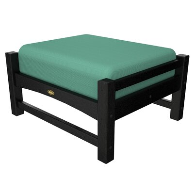 Rockport Club Ottoman Color: Charcoal Black / Spa