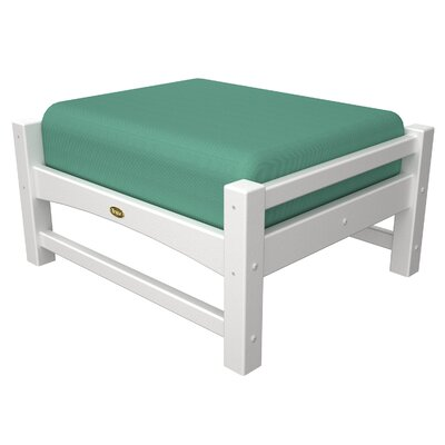 Rockport Club Ottoman Color: Classic White / Spa