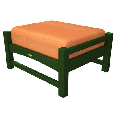 Rockport Club Ottoman Color: Rainforest Canopy / Tangerine