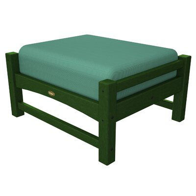 Rockport Club Ottoman Color: Rainforest Canopy / Spa