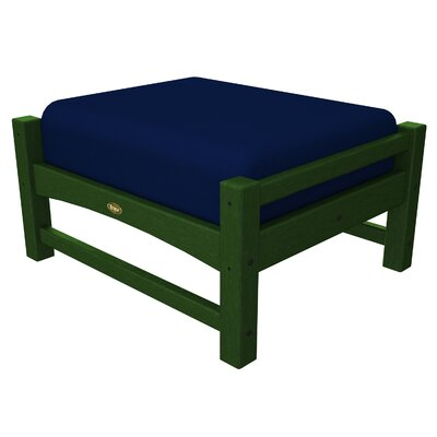 Rockport Club Ottoman Color: Rainforest Canopy / Navy