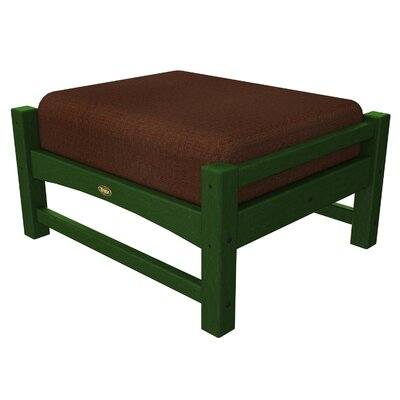 Rockport Club Ottoman Color: Rainforest Canopy / Chili