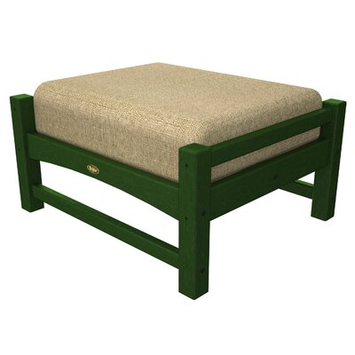 Rockport Club Ottoman Color: Rainforest Canopy / Sesame