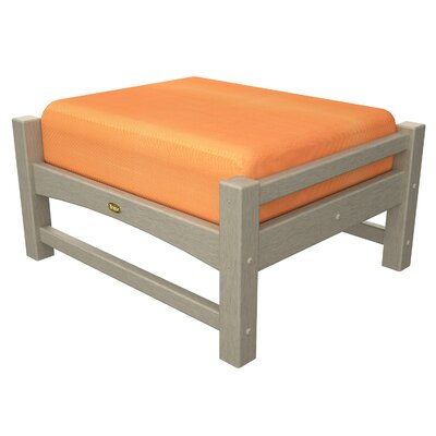 Rockport Club Ottoman Color: Sand Castle / Tangerine