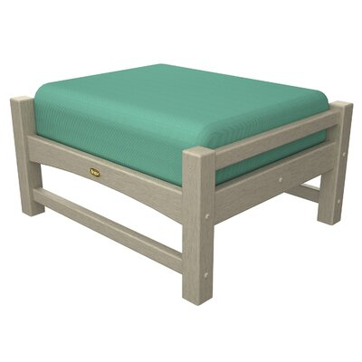 Rockport Club Ottoman Color: Sand Castle / Spa