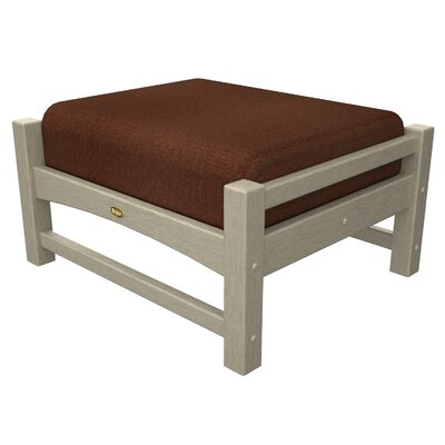 Rockport Club Ottoman Color: Sand Castle / Chili